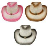 24 Units of ASSORTED COLOR COWBOY HAT - Cowboy & Boonie Hat