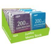 96 Units of 200 Sheets Jumbo memo book - Notebooks