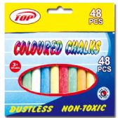 72 Units of 48pc Coloured chalks - Chalk,Chalkboards,Crayons