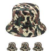 24 Units of MENS CAMOUFLAGE BUCKET HAT - Bucket Hats