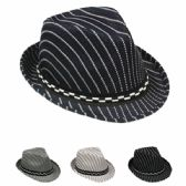 24 Units of KIDS FEDORA HAT IN MIX COLOR WITH CHECKERED BAND