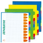 72 Units of 10 Piece Separator - Folders and Report Covers
