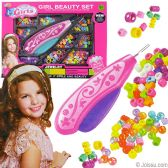 24 Units of Special Girls Hair Beading Kits - GIRLS TOYS