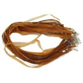 288 Units of BROWN NECKLACE RIBBON CORD - Necklace