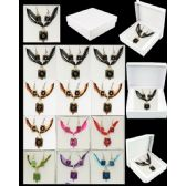96 Units of EUROPEAN PENDANT SET ASSORTED COLOR - Necklace Sets