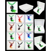 96 Units of ASSORTED COLOR ANIMAL MURANO GLASS NECKLACE - Necklace