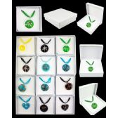 96 Units of ASSORTED COLOR AND STYLE MURANO GLASS NECKLACE - Necklace