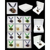 96 Units of ASSORTED COLOR MURANO GLASS NECKLACES - Necklace