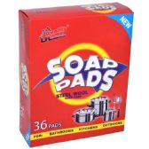 24 Units of Steel WoolSoap Pads 36ct Quality Home