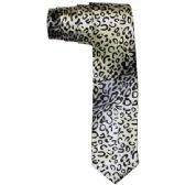 72 Units of Men's Silver Animal Print Tie - Neckties