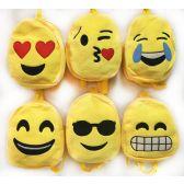 24 Units of Kid's Plush Emoji Backpack Assorted Styles - Backpacks