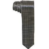 48 Units of Men's Black and White Polka Dot Slim Tie - Neckties