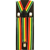 48 Units of RED YELLOW AND GREEN STRIPED SUSPENDERS - Suspenders
