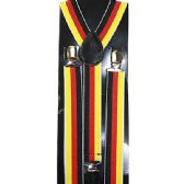 48 Units of RED YELLOW AND BLACK STRIPED SUSPENDERS - Suspenders