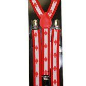 96 Units of ADULT CANADIAN FLAG SUSPENDERS - Suspenders