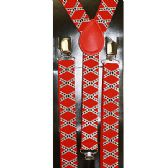 48 Units of RED SUSPENDERS WITH DESIGN - Suspenders