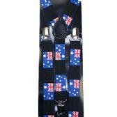 96 Units of BLUE FLAG SUSPENDERS - Suspenders