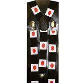 48 Units of JAPAN NATIONAL FLAG SUSPENDERS- Adult - Suspenders