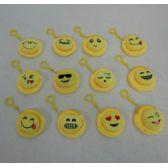 """24 Units of 3"""" Zippered Change Purse--Puffy Emojis"""