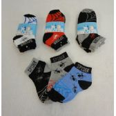 48 Units of 3 Pair Boy's Anklet Socks 2-4 [Spider] - Boys Ankle Sock