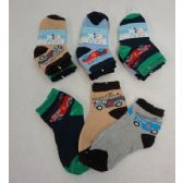 48 Units of 3pr Boy's Anklet Socks 4-6 [Cars]