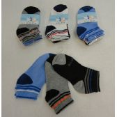 48 Units of 3pr Boy's Anklet Socks 4-6 [Sports]