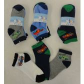 48 Units of 3pr Boy's Anklet Socks 6-8 [Cars]