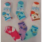 60 Units of 3pr Girl's Anklet Socks 4-6 [Deer & Bunny]
