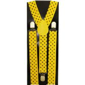 48 Units of YELLOW SUSPENDERS WITH BLACK DOTS - Suspenders