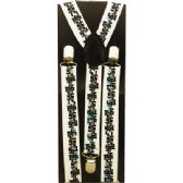 96 Units of WHITE SUSPENDERS WITH PATTERN - Suspenders