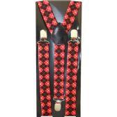 48 Units of RED PATTERN SUSPENDERS - Suspenders