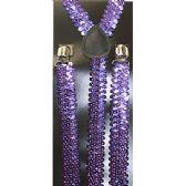 48 Units of PURPLE SEQUINED SUSPENDERS - Suspenders