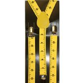 48 Units of ADULT YELLOW RULER SUSPENDERS - Suspenders