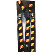48 Units of BLACK SUSPENDERS WITH LIGHTNING - Suspenders