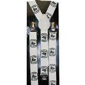 96 Units of WHITE MEXICO SUSPENDERS - Suspenders