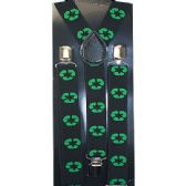 96 Units of BLACK SUSPENDERS WITH RECYCLING SIGN - Suspenders