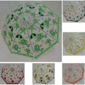 48 Units of Automatic Environmental Umbrella with Character Prints