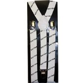 96 Units of WHITE POLICE SUSPENDERS - Suspenders