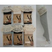 48 Units of Boot Sock-Diagonal Ribbing [Wide Antique Lace]