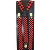 48 Units of KIDS RED AND BLACK CHECKER PRINT SUSPENDERS - Suspenders