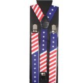48 Units of Kid's American Flag Suspenders - Suspenders