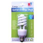 100 Units of Spiral energy bulb 25W