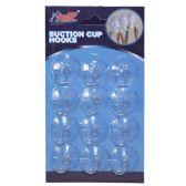 48 Units of Suction Cup Hooks 12 Pack - Hooks/Hook Racks
