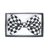 48 Units of Checkered White Bow Tie 040 - Neckties