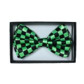 48 Units of Checkered Green Bow tie 044 - Neckties
