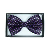 48 Units of Purple Polka Dot Bowtie 050 - Neckties
