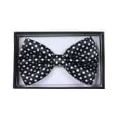 48 Units of Black bow tie with white dots 051 - Neckties