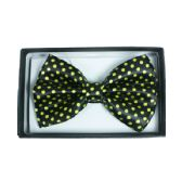 48 Units of Black Bowtie with Yellow Dots 053 - Neckties