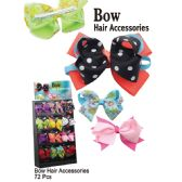 72 Units of BOWTIE HAIR ACCESSORIES - Hair Accessories