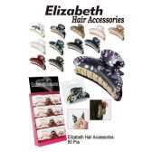 60 Units of ELIZABETH HAIR CLIP ACCESSORIES - Hair Accessories